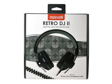 MAXELL RETRO DJ2 Fejhallgató Fekete (303630.00.CN) 581c9b2d63