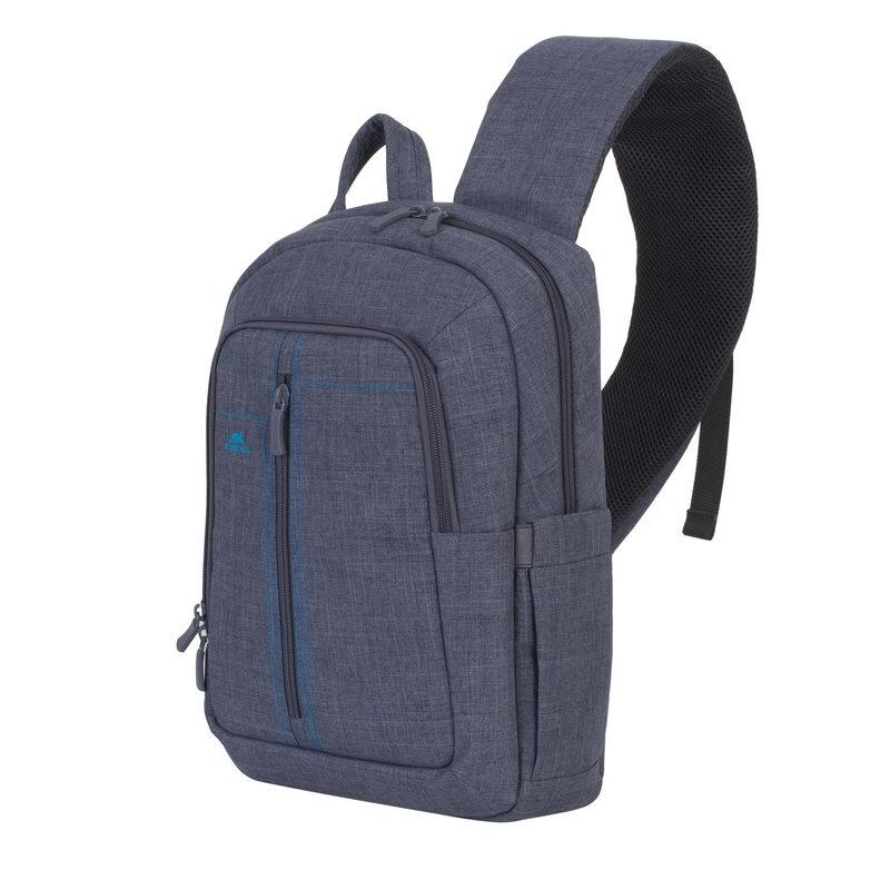 7e7689ec7de8 RivaCase 7529 Canvas Sling Backpack Szürke 13,3
