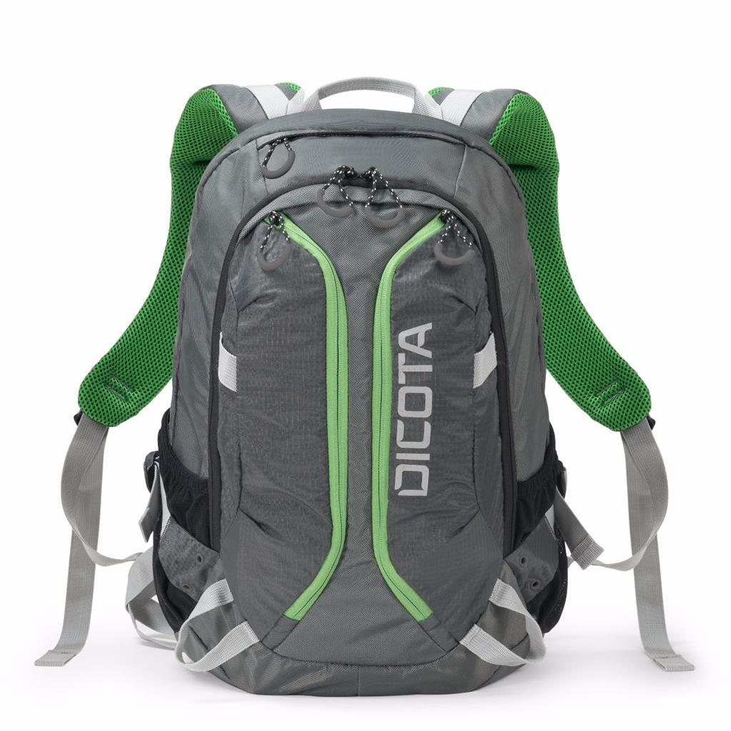 Dicota Backpack ACTIVE 14-15.6 notebook hátizsák szürke zöld (D31221) 0fbcdf6a8d