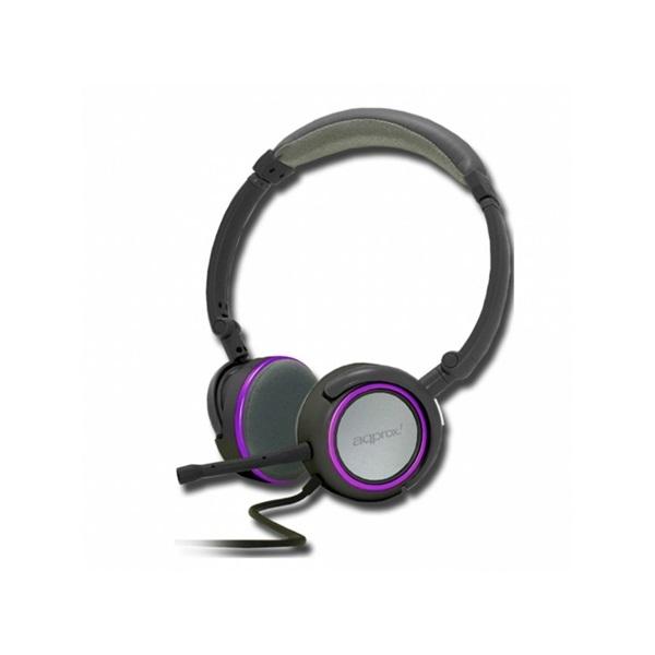 Approx APPHS05PP fekete-lila mikrofonos fejhallgató b279ebc5b4