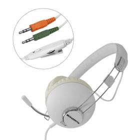 HAMA Sonority mikrofonos fehér headset (51655)