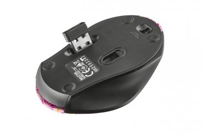Trust Oni wireless optikai rózsaszín virágos micro egér (21156)