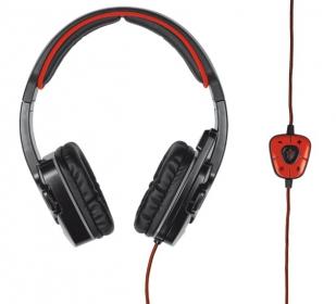Trust GXT 340 7.1 USB mikrofonos fekete gamer headset (19116)