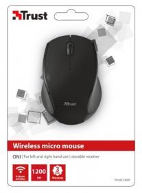 Trust Oni wireless optikai fekete micro egér (21048)