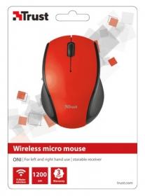 Trust Oni wireless optikai piros-fekete micro egér (21050)