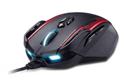 Genius GX - Gila USB lézer fekete-piros-kék gamer egér (MOU-GILA)