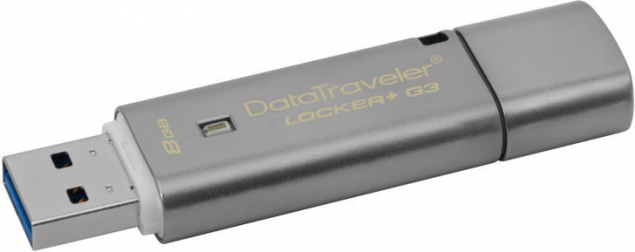 KINGSTON DataTraveler Locker pendrive + G3 16GB Ezüst (DTLPG3/16GB)