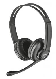 TRUST ZAIA mikrofonos fekete fejhallgató  (15482)