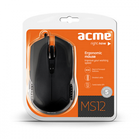 ACME MS-12 USB optikai fekete egér