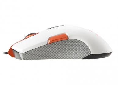 COUGAR 250M USB optikai fehér-narancs gamer egér (250M - WHITE)