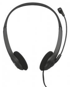 TRUST INSONIC mikrofonos fekete fejhallgató (15481)