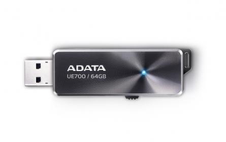Adata USB memory 64GB DashDrive Elite UE700 Fekete (AUE700-64G-CBK)