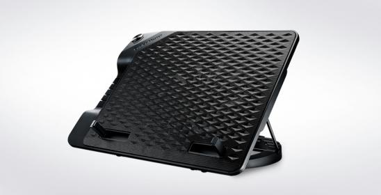 Cooler Master Notepal Ergostand III 17'' fekete notebook hűtő (R9-NBS-E32K-GP)