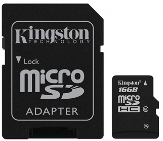 KINGSTON Memóriakártya 16GB CLASS 4 + Adapter (SDC4/16GB)