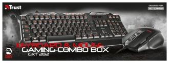 Trust GXT 282 USB gamer fekete billentyűzet és egér (20543)