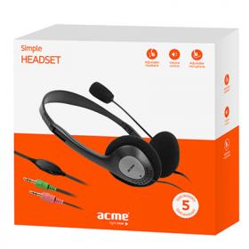 ACME CD602 fekete mikrofonos fejhallgató (ACFHCD602)
