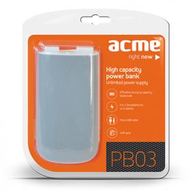 ACME PB-03 6000 mAh szürke-fehér PowerBank (ACPB03)
