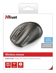 Trust Kerb Compact wireless lézer fekete egér (25399)