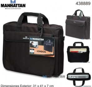 Manhattan London Notebook táska 15.6'' Fekete (438889)