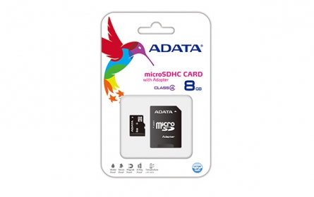 ADATA Micro SDHC 8 GB Class 4 memóriakártya + Adapter (AUSDH8GCL4-RA1)