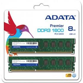 ADATA DDR3 8GB (2x4GB) 1600MHz CL11 1.5V (AD3U1600W4G11-2)