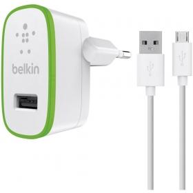 Belkin F8M667VF04-WHT zöld-fehér USB-micro USB hálózati töltő