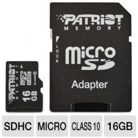 PATRIOT  Micro SDHC 16GB + adapter (PSF16GMCSDHC10)