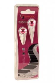 Sbox 1055P pink fém házas fülhallgató