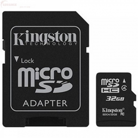 KINGSTON Memóriakártya  32GB + Adapter (SDC4/32GB)