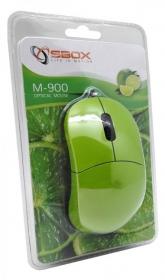 Sbox M-900G USB optikai limezöld egér