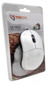 Sbox M-900W USB optikai fehér egér
