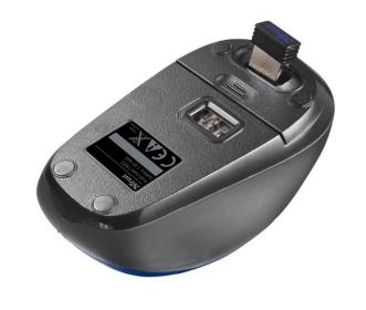 TRUST YVI wireless optikai kék-fekete mini egér (19663)