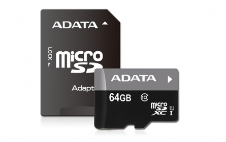 ADATA Premier Micro SDXC UHS-I 64GB +SDHC Adapter (AUSDX64GUICL10-RA1)