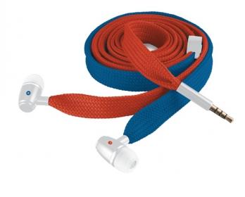 Trust Urban Revolt Lace In-ear mikrofonos kék-piros mobil headset (19280)