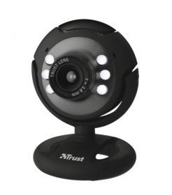 Trust SpotLight USb mikrofonos fekete webkamera (16429)
