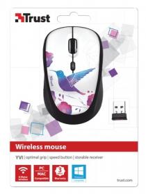 Trust Yvi wireless optikai madármintás egér (20251)