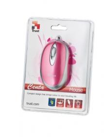 TRUST Centa MI-2520p USB optikai mini rózsaszín-ezüst egér (16145)