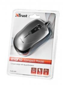TRUST  EVANO Compact USB optikai fekete-szürke egér (16489)