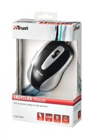 TRUST EasyClick USB optikai fekete-ezüst egér(16535)