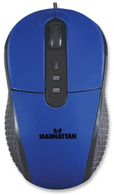 Manhattan RightTrack USB optikai kék-fekete egér (177719)