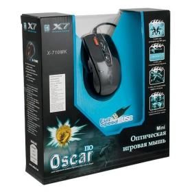 A4-Tech X-710MK USB optikai fekete gamer egér