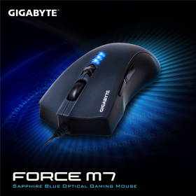 GIGABYTE  FORCE M7 USB lézer fekete gamer egér(GM-FORCE M7)