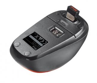 TRUST YVI wireless optikai piros-fekete mini egér (19522)