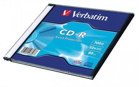 VERBATIM CDV7052V1DL CD-R vékony tokos írható CD