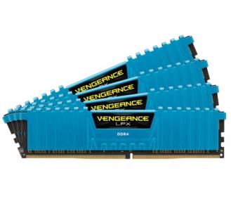 Corsair Vengeance LPX 16GB (4x4GB) 2400MHz DDR4 Kék (CMK16GX4M4A2400C14B)