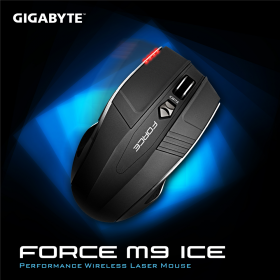GIGABYTE  FORCE M9 ICE wireless optikai fekete egér (GM-FORCE M9 ICE)