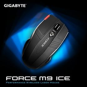 GIGABYTE  FORCE M9 ICE wireless optikai fekete egér (GM-FORCE M9 ICE)