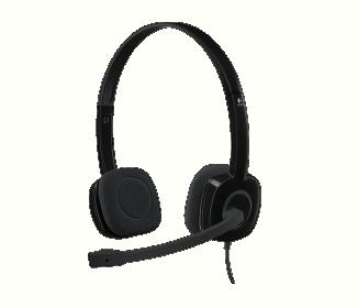 Logitech H151 mikrofonos fekete fejhallgató (981-000589)
