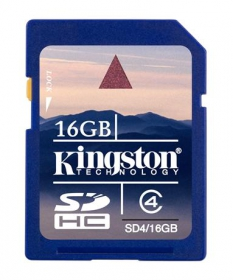 Kingston 16 GB SDHC Class 4 memóriakártya (SD4/16GB)