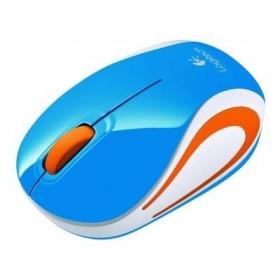 Logitech M187 wireless optikai kék-narancs egér (910-002738)